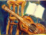 Guitars and music and painting = my soul